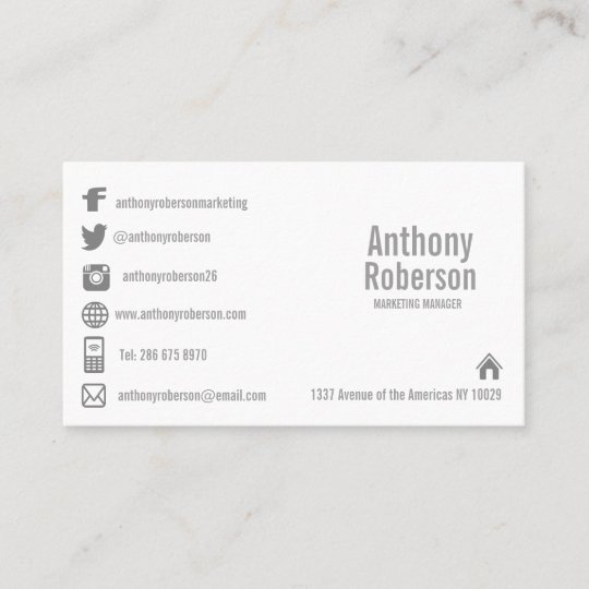 Custom template with social media symbols business card zazzle custom template with social media symbols business card reheart Image collections