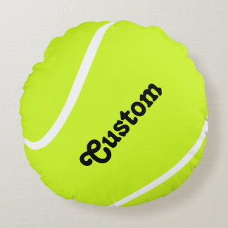 Custom Tennis Ball Player or Team Name Pillow