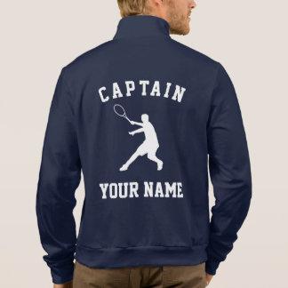 Custom tennis captain fleece jacket