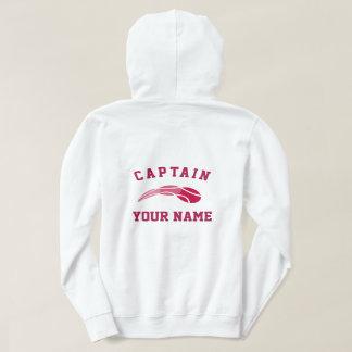 Custom tennis captain hoodie for women's team