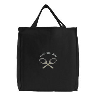 Custom Tennis Embroidered Bag