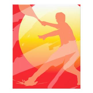 Custom tennis tournament flyer template design