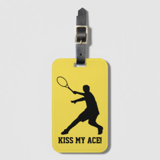Custom tennis travel luggage tag for sports bags