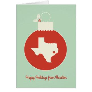 Custom Texas State Tree Bauble Christmas Card