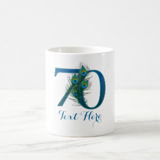 Custom text 70th Wedding Anniversary mug
