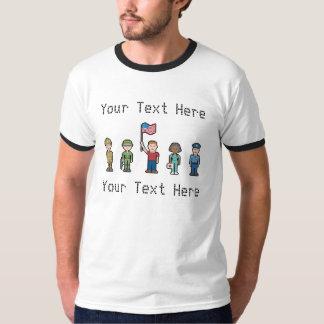 Custom Text American Heroes T Shirt