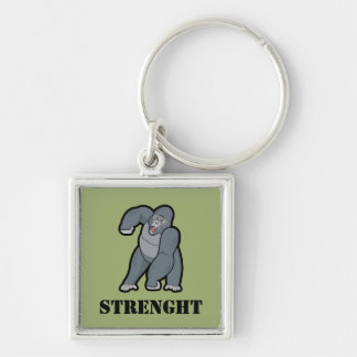 Custom Text Angry Gorilla Key Ring