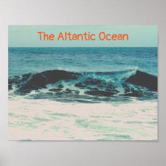 Custom Text | Atlantic Ocean Poster