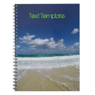 Custom Text   Bahamas   Beach Spiral Note Book