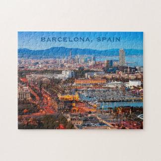 Custom text BARCELONA photo puzzle