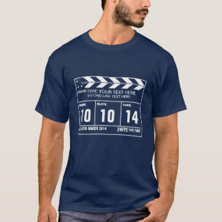 Custom Text Clapperboard Classic T-Shirt