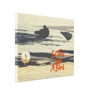 Custom Text | Cute Doves Canvas Print