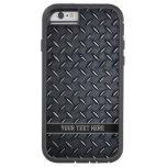 Custom Text Diamond Plate Steel look iPhone 6 case