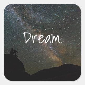 Custom Text Dream Big Galaxy Stars & Space Sticker