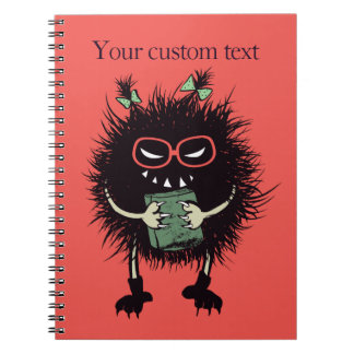 Custom Text Evil Bug Student Goes Back To School Notebooks