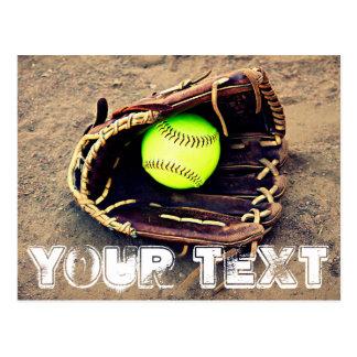 Custom Text Fastpitch Softball Postcard