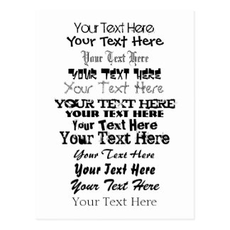 Custom Text. Fonts Postcard no. 3. Your Text Here.