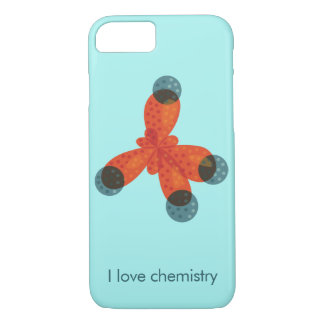 Custom Text Geek Methane Molecule Love Chemistry iPhone 8/7 Case