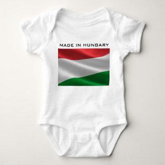 Custom Text Hungarian Flag clothing Baby Bodysuit