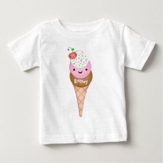 Custom  Text  Ice Cream Cone Baby T-Shirt