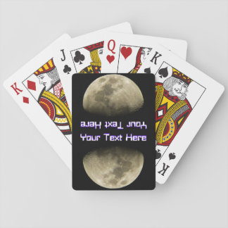 Custom Text Moon Playing Cards
