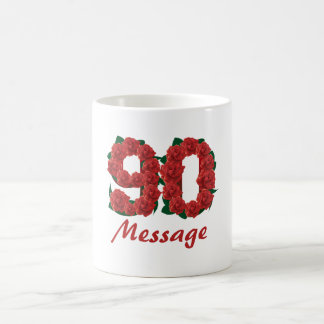 Custom text name 90th birthday number coffee mug