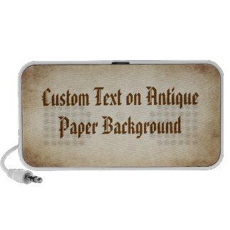 Custom Text on Antique Paper Travel Speaker