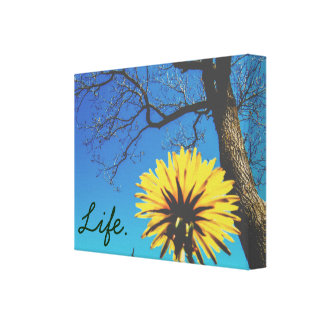 Custom Text | Spring Nature Canvas Print