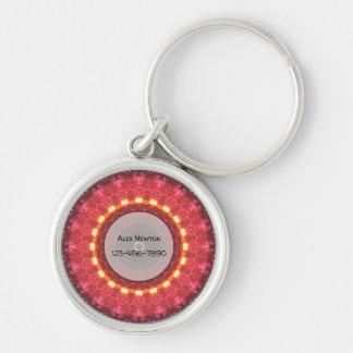 Custom Texts | Warm Mandala Key Ring