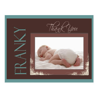 Custom Thank you Baby card for Franky