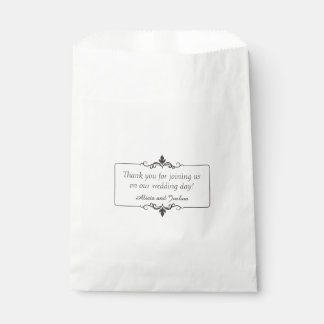 Custom Thank You Message Personalized Wedding Favour Bag
