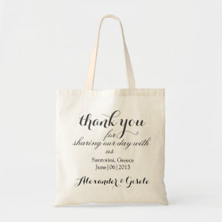 Custom Thank You Welcome Wedding Tote Bag