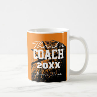 Custom Thanks Basketball coach coffee mug