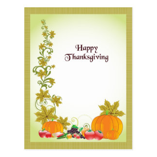 Custom Thanksgiving Postcard