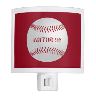 Custom theme Sports Theme Red Baseball Night Light