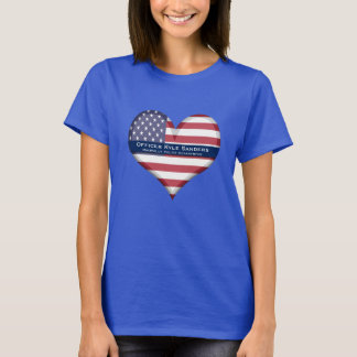 Custom Thin Blue Line Heart T-Shirt