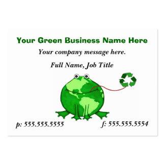 Custom Think Green Earth Frog Business Card