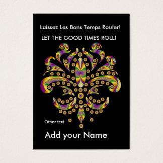 Custom Throw Card fleur de lis