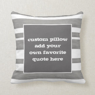 custom throw pillow add your own quote