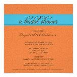 custom Timeless Bridal Shower Invite (orange/blue)