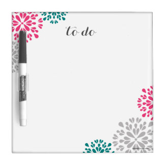 Custom To Do Floral Dry Erase Board