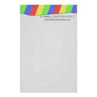Custom Torn Paper Rainbow Customised Stationery