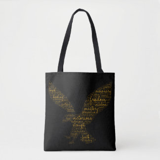 Custom Tote Bag with Spiritual Bible Text