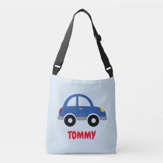 Custom toy car cross body bag for school kids