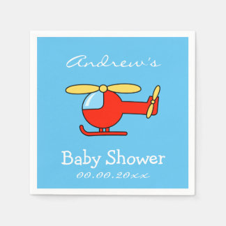Custom toy helicopter baby shower napkins disposable serviette