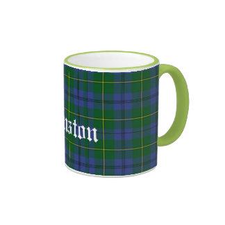 Custom Traditional Johnston Tartan Plaid Ringer Mug