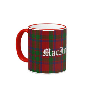 Custom Traditional MacIntosh Tartan Plaid Mug