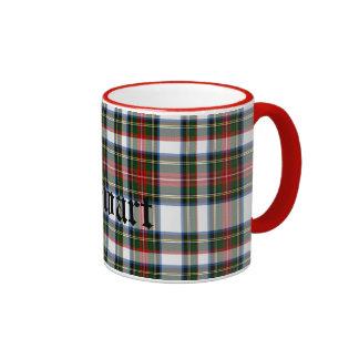 Custom Traditional Stewart Tartan Plaid Ringer Mug