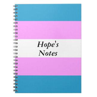 Custom Trans Flag Notebook
