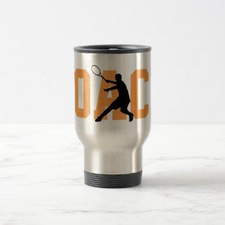 Custom travel to go mug for tennis coach